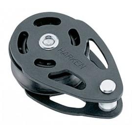 Harken pulley simple chainplate textile  Ø 75 mm