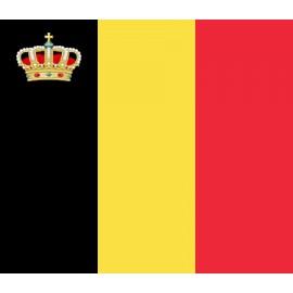 Pabellón belga con corona