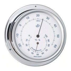 BARIGO Range 100 chrome thermometer-hygrometer