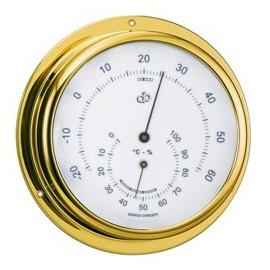 BARIGO Range 100 brass thermometer-hygrometer