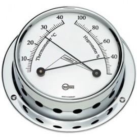 BARIGO Range 70 chrome thermometer-hygrometer