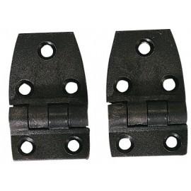 Bisagra plástico negro 35x56mm