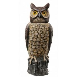 Pivoting head owl scarecrow