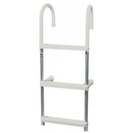 Escalera de aluminio y plástico